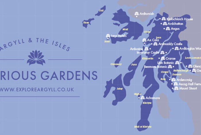 Glorious gardens of Argyll map