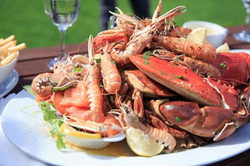 Seafood at Port Askaig Hotel, Islay