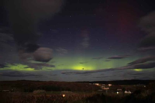 Northern Lights on Coll by George McConnachie